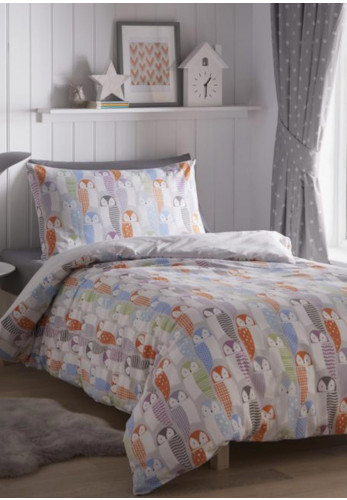 Portfolio Home Owls Double Duvet Cover Set, Multi
