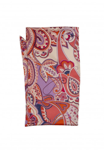 Powder Limited Edition Paisley Satin Neck Scarf, Pink