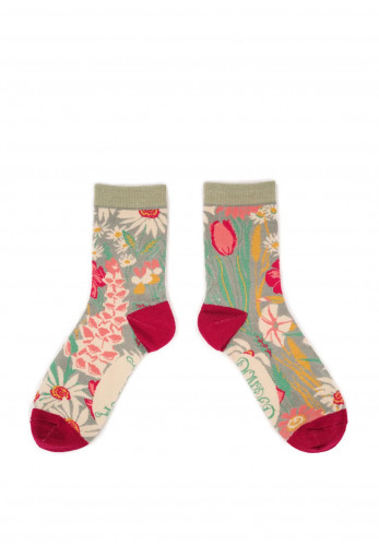 Powder Country Garden Ankle Sock, Mint