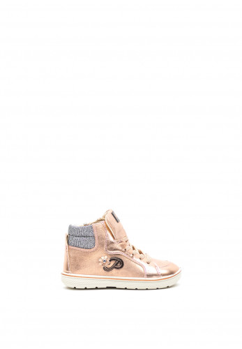 Primigi Girls Metallic Hi-Top Trainers, Rose Gold