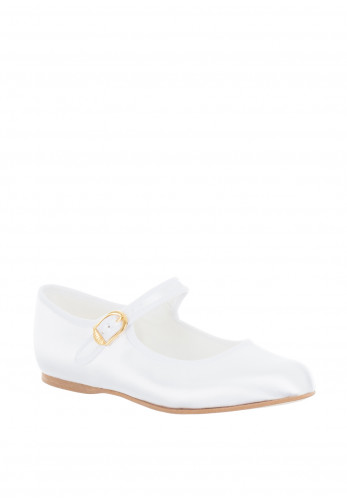 Pure & Precious Girls Satin Communion Shoes, White