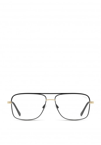 Quay Australia Poster Boy Mini Sunglasses, Black & Gold