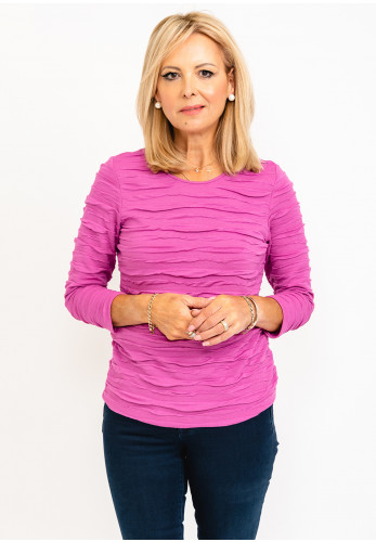 Rabe Ruched Stripe Top, Purple