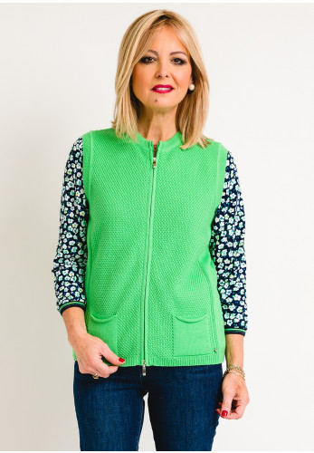 Rabe Knitted Gilet, Green