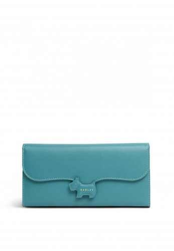 Radley Crest Matinee Large Flapover Wallet, Teal