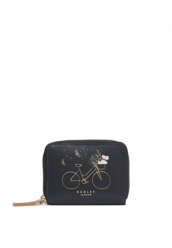 Radley This Is How I Roll Small Zip Round Purse, Black
