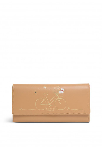 Radley This Is How I Roll Large Flapover Wallet, Tan