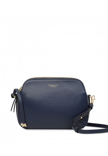 Radley Dukes Place Double Zip Crossbody Bag, Dark Blue