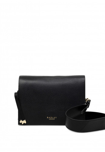 Radley Haven Street Small Flapover Crossbody Bag, Black