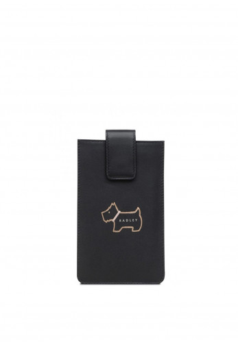 Radley Heritage Dog Phone Case, Black