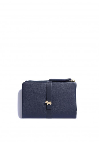 Radley West View Small Button Strap Wallet, Navy