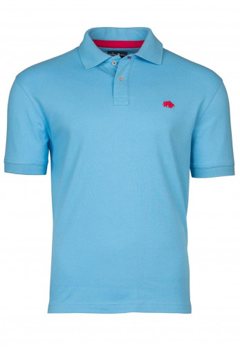 Raging Bull Signature Polo Top, Sky Blue
