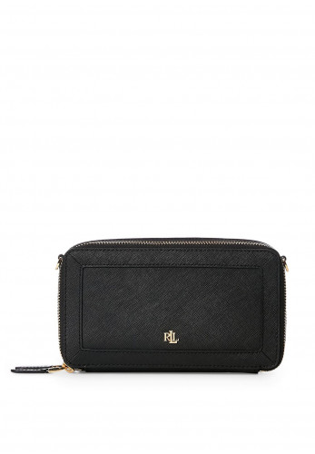 Ralph Lauren Danna Small Leather Crossbody Bag, Black