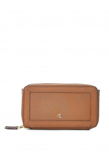 Ralph Lauren Danna Small Leather Crossbody Bag, Tan