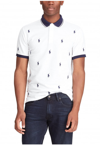 Ralph Lauren Stretch Slim Fit Polo, White