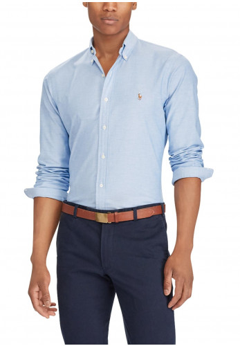 Ralph Lauren Mens Oxford Shirt, Blue