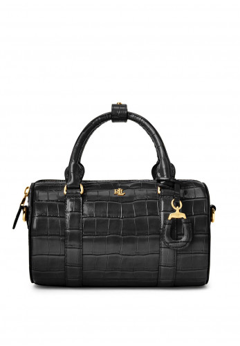 Ralph Lauren Zoey Leather Small Satchel Bag, Black