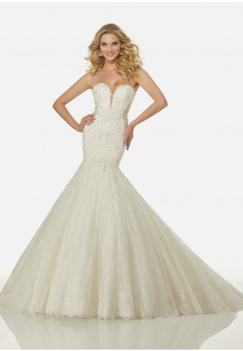 Randy Fenoli Wedding Dress 3417 Ivory UK Size 12