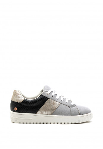 Rant & Rave Suede Mix Trainer, Grey Multi