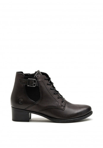 Remonte Leather Low Heel Ankle Boots, Black