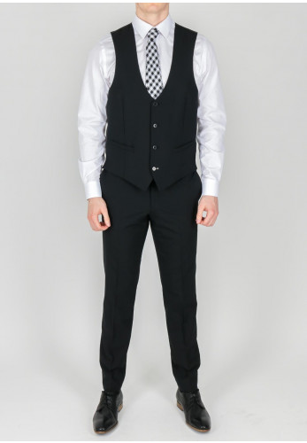 Remus Uomo Black Trousers Mix and Match, Extra Slim