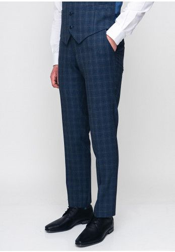 Remus Uomo Palucci Wool Mix & Match Tapered Trousers, Navy