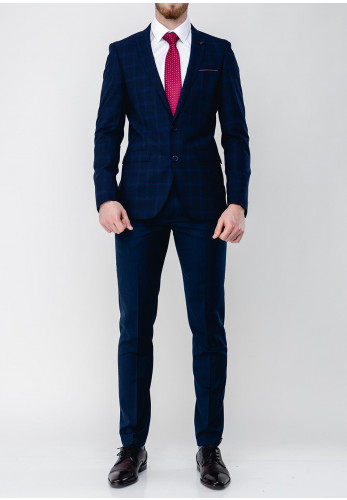 Remus Uomo Lanzo Mix & Match Check Suit Jacket, Navy
