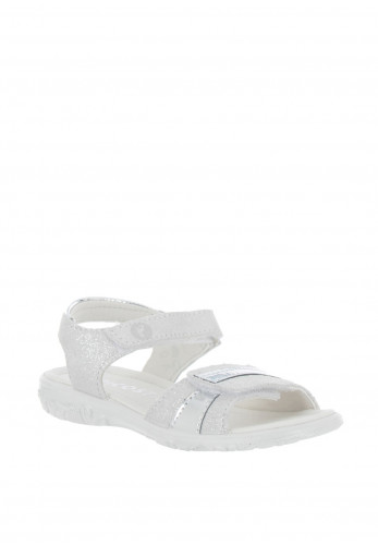 Ricosta Marie Leather Velcro Sandals, Silver