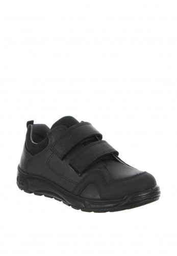 Ricosta Boys Leather School Shoes, Black