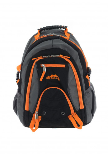 Ridge 53 Bolton Schoolbag, Grey & Orange