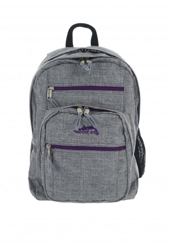 Ridge 53 College Schoolbag, Grey & Purple
