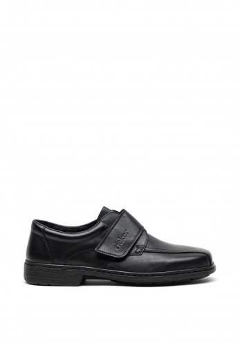 Rieker Mens Extra Wide Leather Shoe, Black