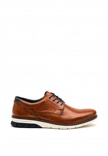 Rieker Mens Smooth Leather Shoe, Brown