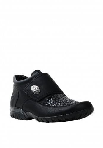 Rieker Velcro Strap Croc Shoes, Black