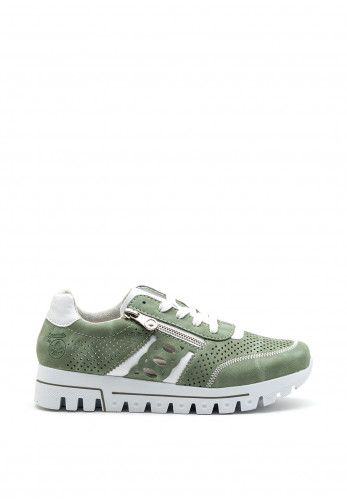 Rieker Womens Perforated Detail Trainer, Green
