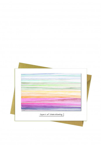 Rita Oates Layers Of Understanding Greeting Card