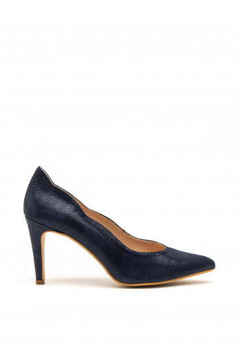 Pomares Faux Suede Court Shoes, Navy