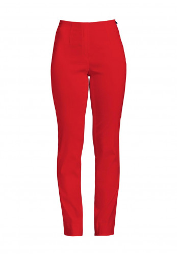Robell Marie Full Length Stretch Slim Fit Trousers, Red