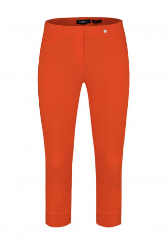 Robell Rose 07 Slim Fit Cropped Trousers, Orange