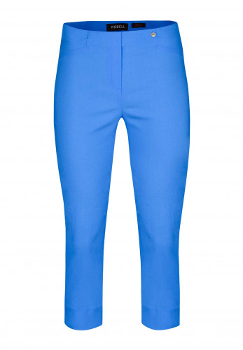 Robell Rose 07 Slim Fit Cropped Trousers, Blue