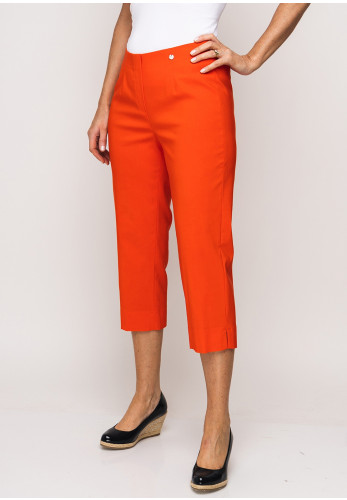 Robell Marie 07 Stretch Crop Trousers, Orange