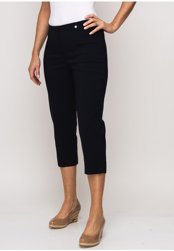 Robell Marie 07 Stretch Crop Trousers, Navy