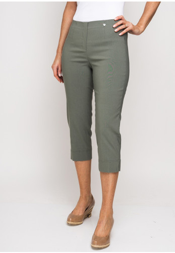 Robell Marie 07 Stretch Crop Trousers, Ivy Green