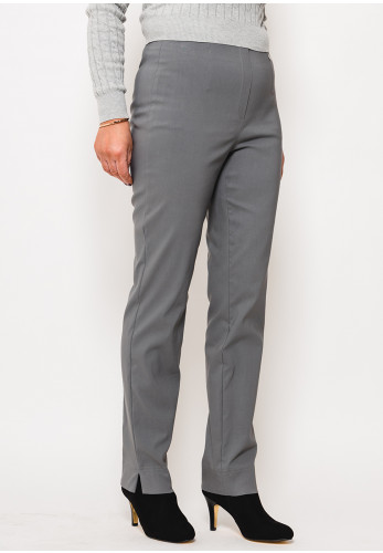 Robell Marie Stretch Slim Fit Trousers, Graphite Grey