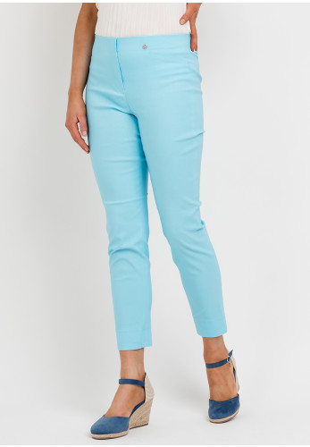 Robell Rose 09 Super Slim Trousers, Pacific Turquoise