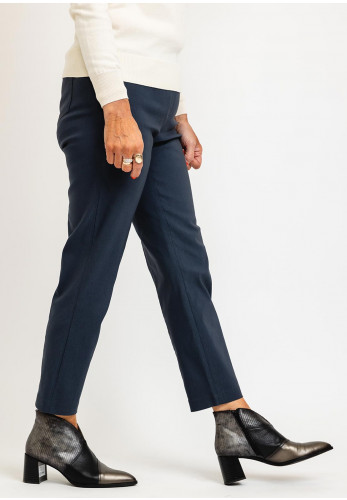 Robell Bella 09 Ankle Grazer Trousers, Grey