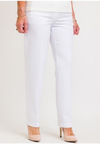 Robell Sahra Comfort Fit Straight Trousers, White