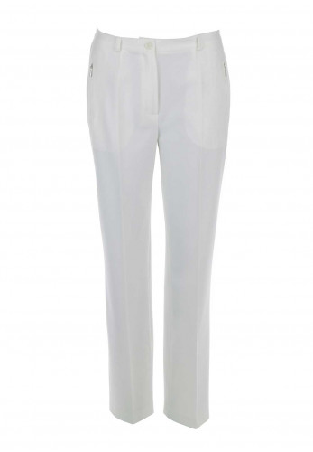 Robell Sahra Comfort Fit Straight Leg Trousers, Off White