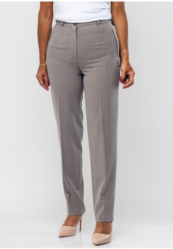 Robell Sahra Comfort Fit Straight Trousers, Taupe