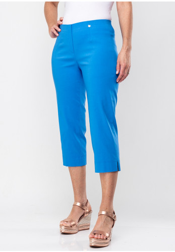 Robell Marie 07 Stretch Crop Trousers, Azure Blue